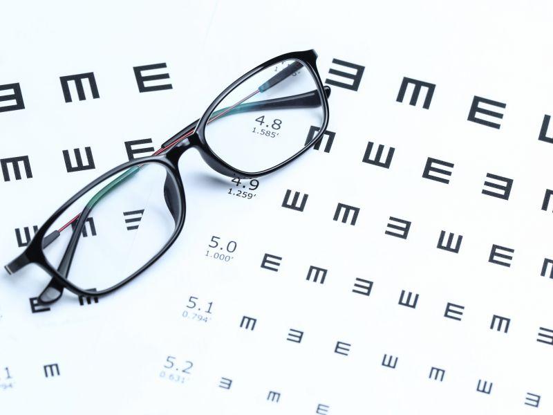 Diagramă cu dimensiunea scrisorii pentru examinarea ochilor