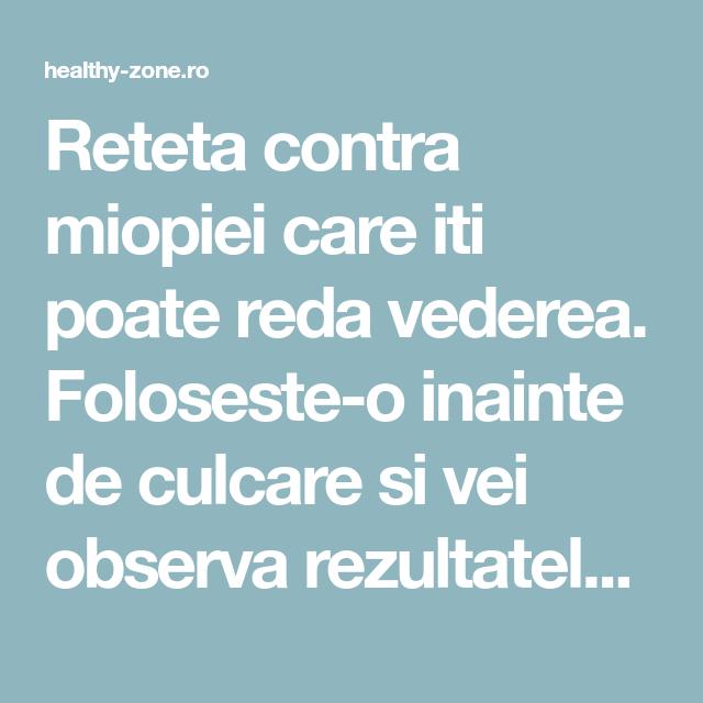 tratamentul vederii cu remedii populare miopie)