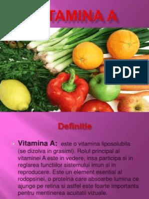 vitamina acuității vizuale)