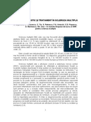 plan de examinare pentru scleroza multiplă suspectată)