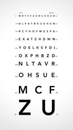 linia de jos pentru testul de vedere)