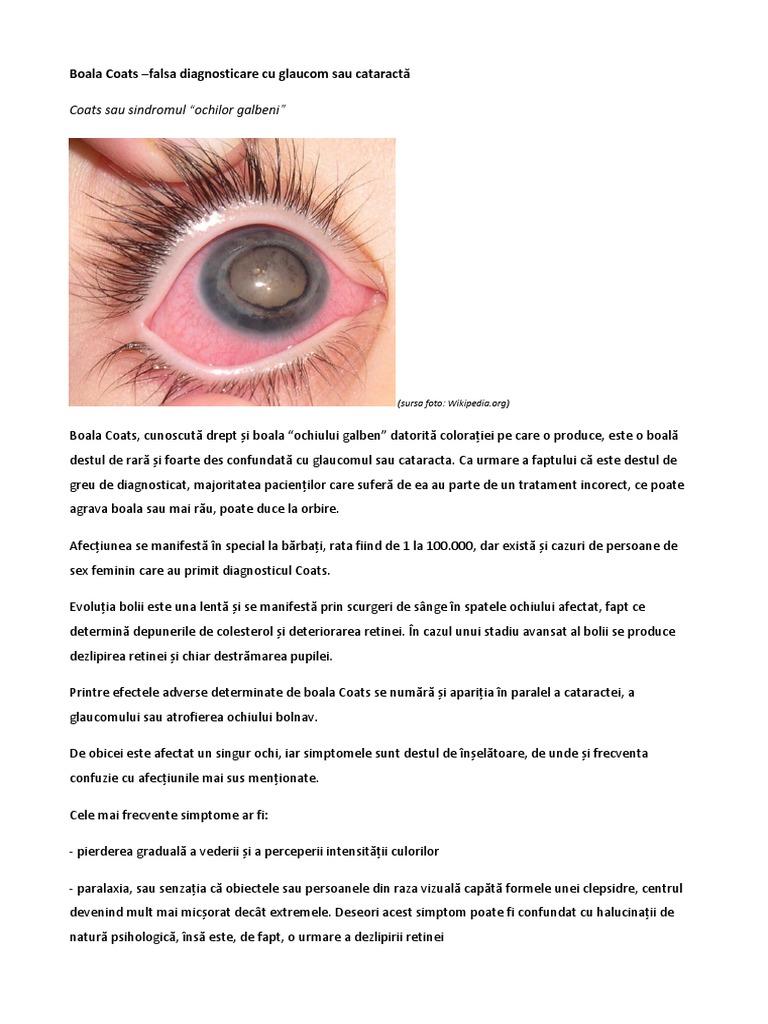 deteriorarea vederii la ce boală)