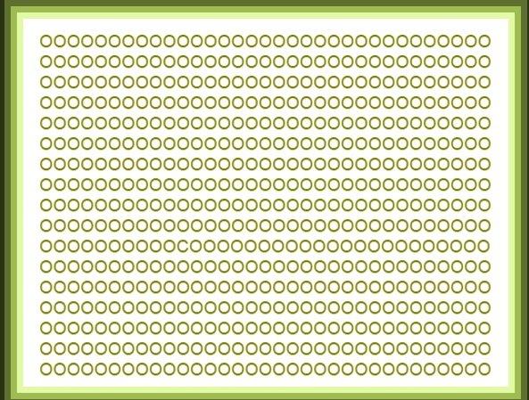 litere de acuitate vizuală de masă w