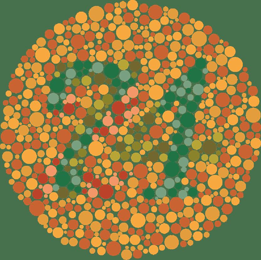 grafic de testare a ochilor verzi-roșii)