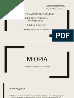 Miopia este mai slabă decât dioptria