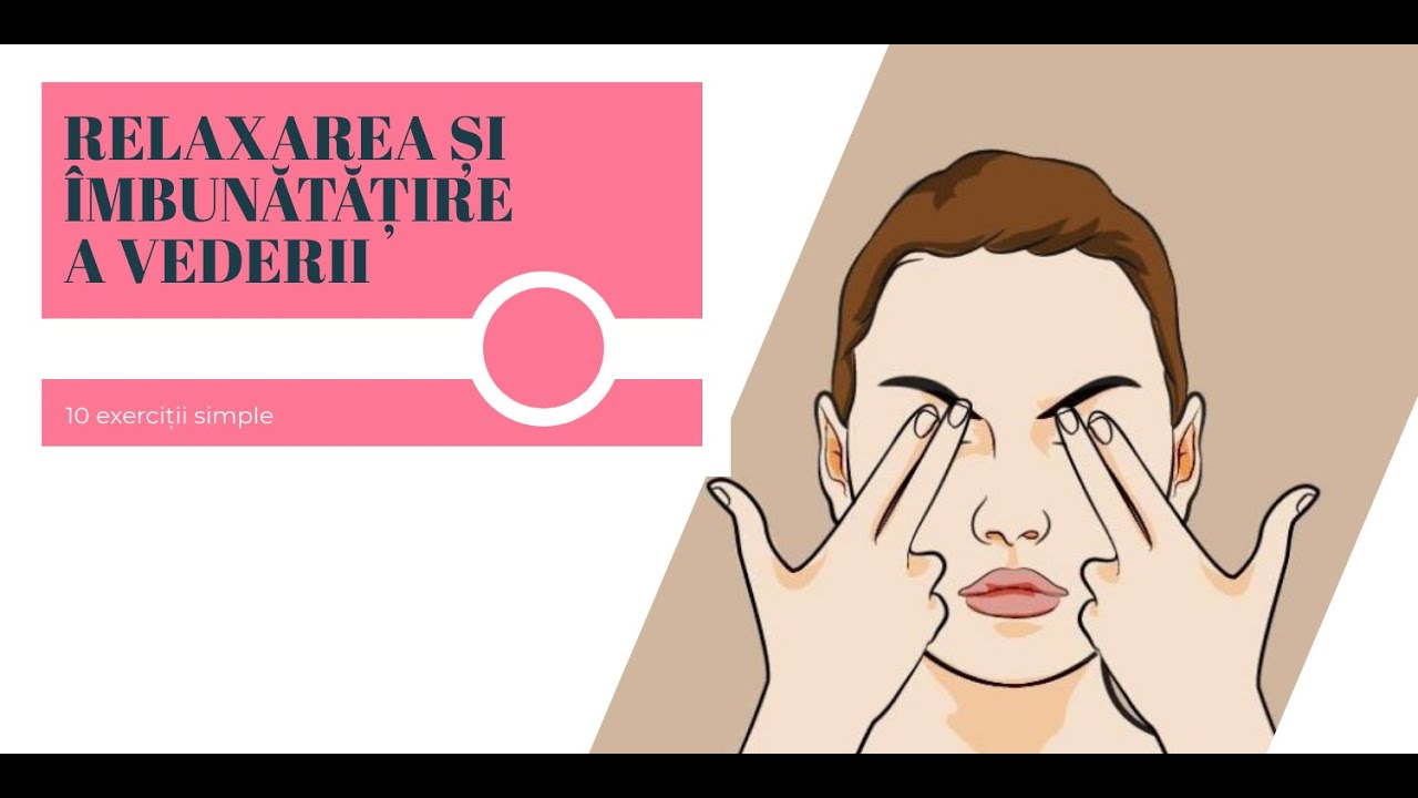 cinci exerciții pentru îmbunătățirea vederii)
