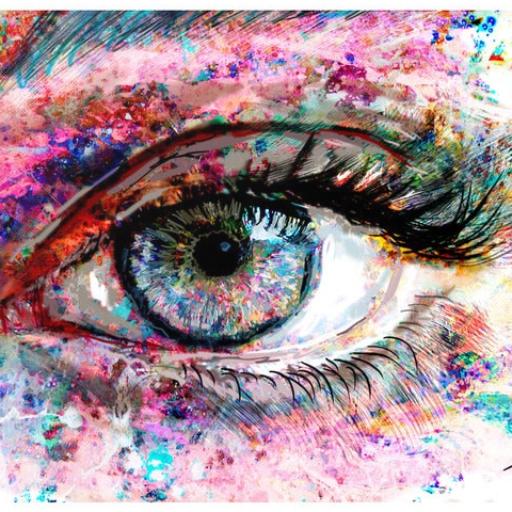 test cu ochiul liber