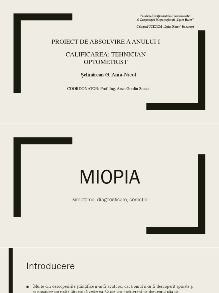 miopia mecanismul dezvoltării sale)
