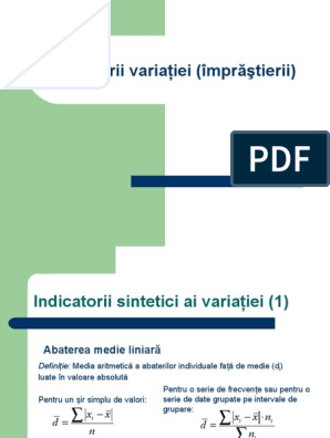 indicatori ai abaterii vizuale)