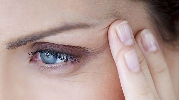 diferite niveluri de vedere în jurul ochilor)