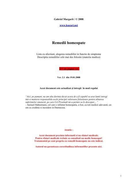 homeopatie în tratamentul vederii)