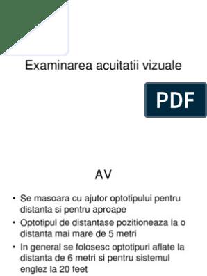 acuitatea vizuală 20 la sută