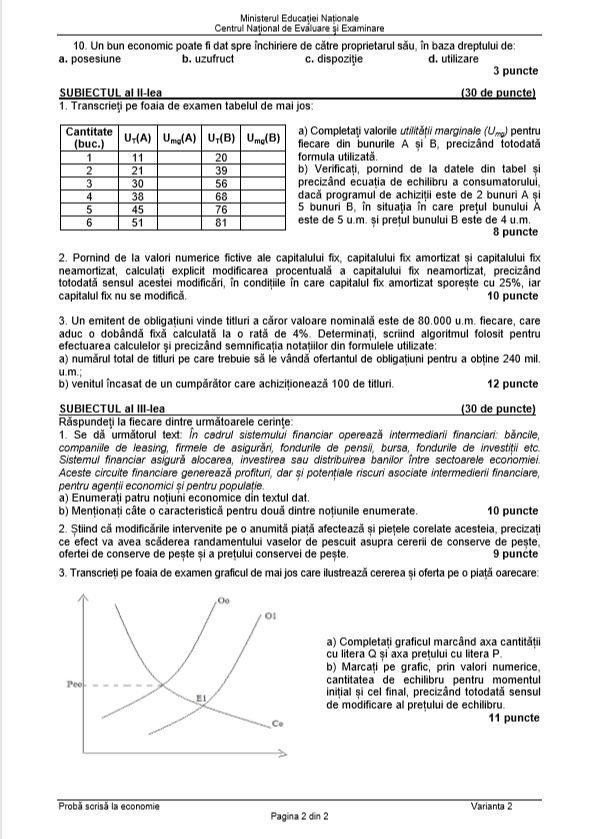 tabel de corectare)