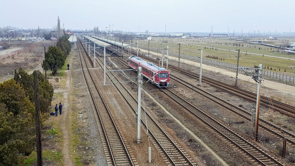 slabă vedere asupra căii ferate)