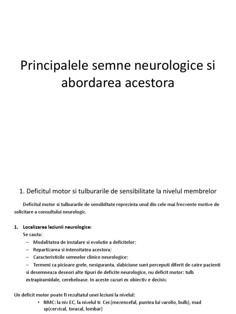simptome neurologice oftalmice)