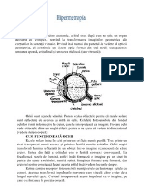 hipermetropie și activitate fizică mijloace pentru îmbunătățirea vederii
