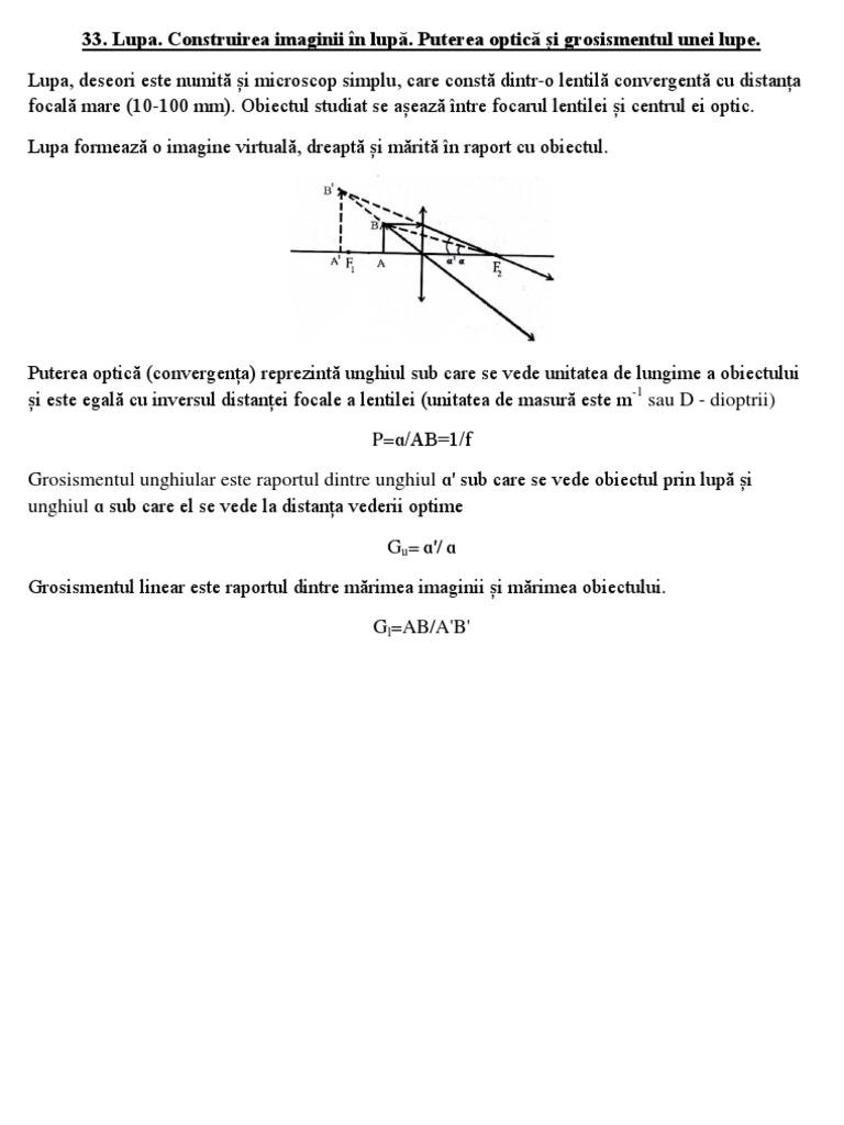 formula optică a vederii