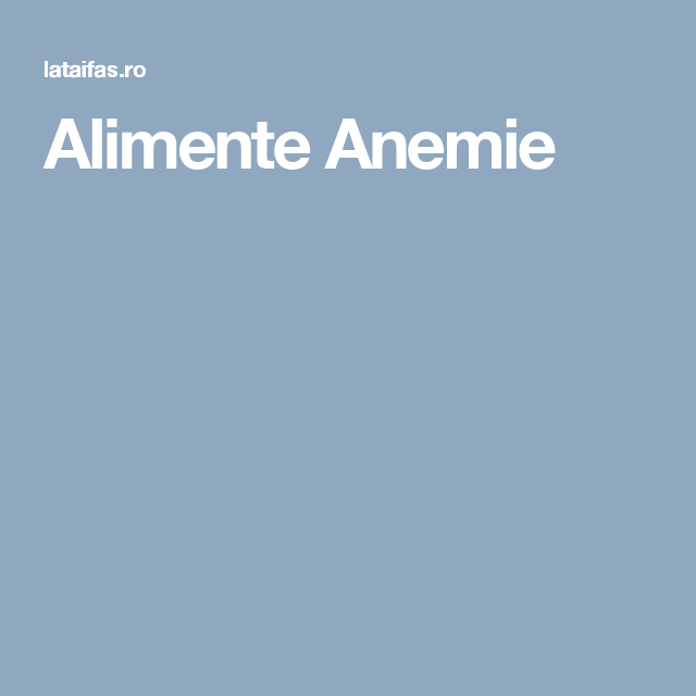 Produse contra anemiei - Recomandari Farmacia Arsene