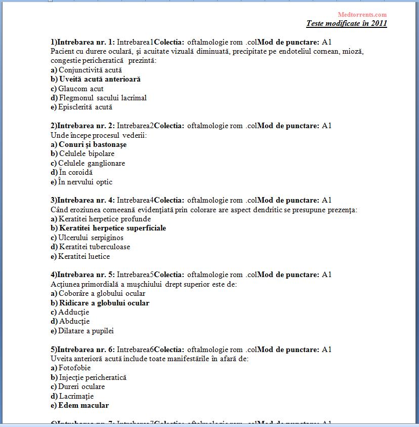 teste oftalmologie usmf)