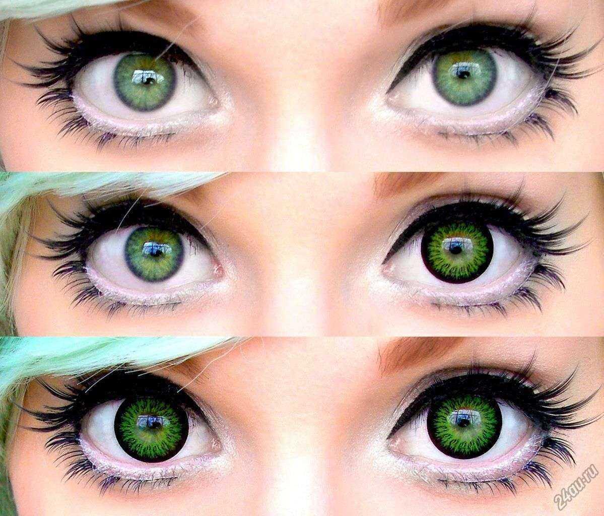 lentile colorate cu vedere normală