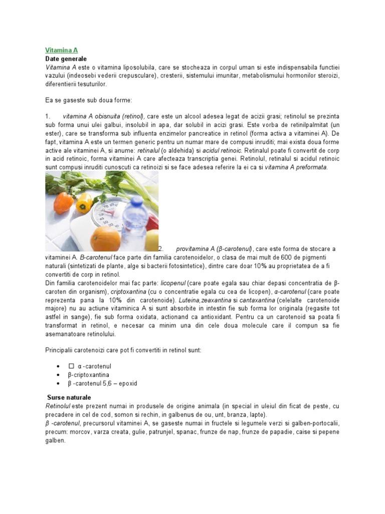 vitaminele b6 și viziunea)