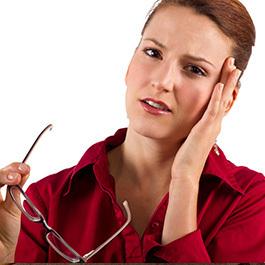 vedere din cauza problemelor gâtului
