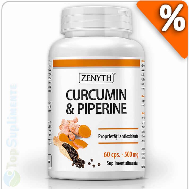 Supliment alimentar GNC Herbal Plus Turmeric Curcumin 1050 mg.