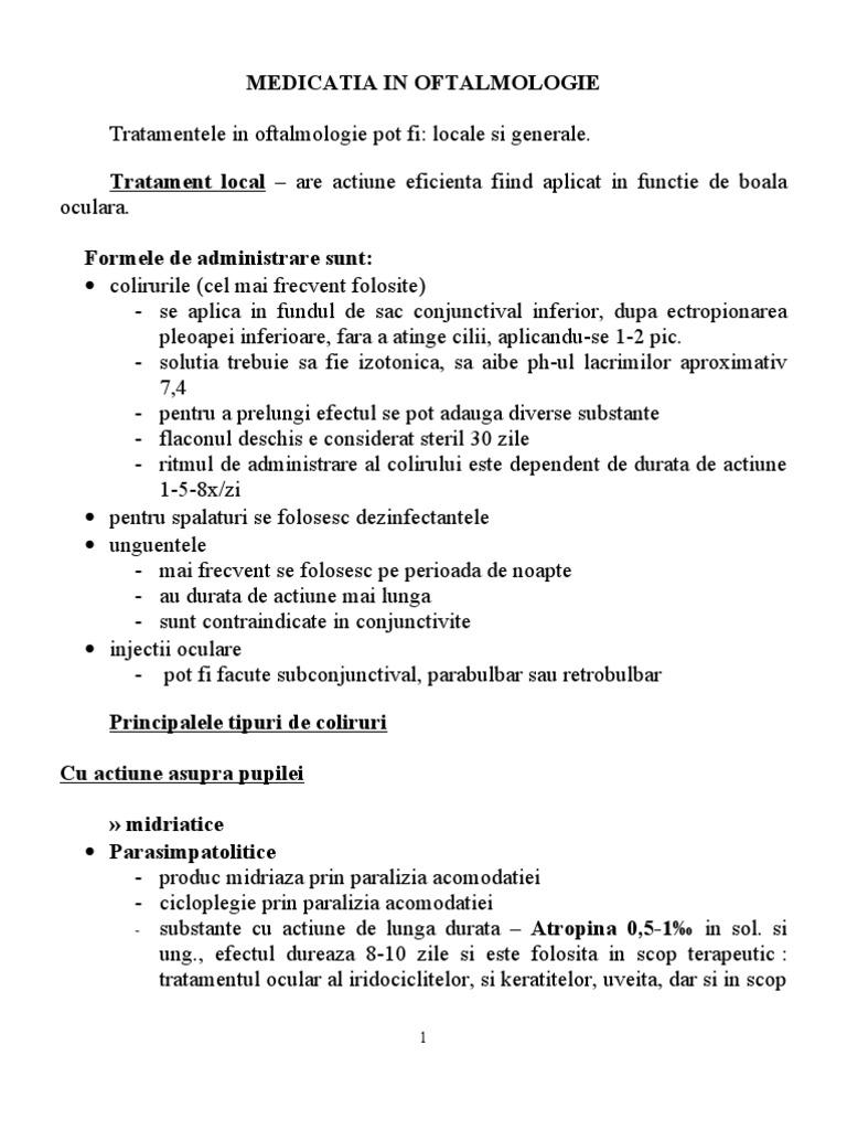 antiinflamatoare nesteroidiene în oftalmologie)