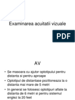 graficul testului de acuitate vizuală