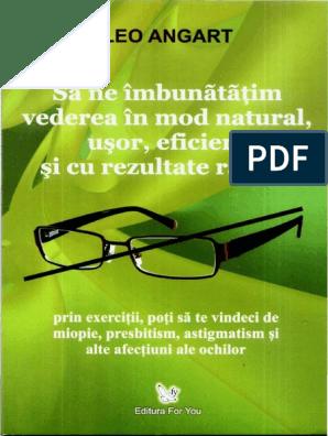 ochelari de instrucțiuni pentru formarea vederii