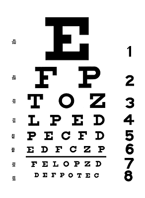 test ocular optician