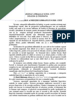 Dislexo-disgrafia. Varietate, cauze, depistare – Centrul Les Lavandes, Franta