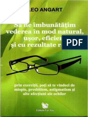 cum să vindeci vederea acasă