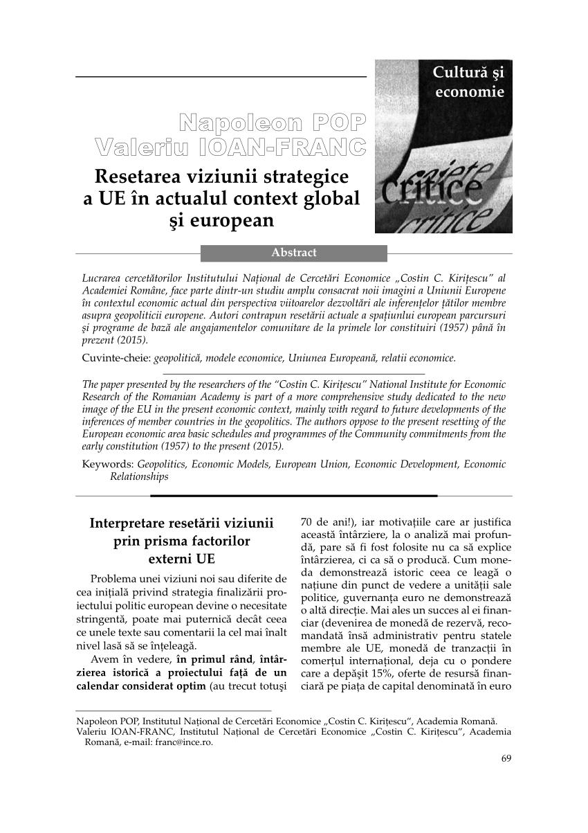 Viziunea, misiunea si strategia noastra