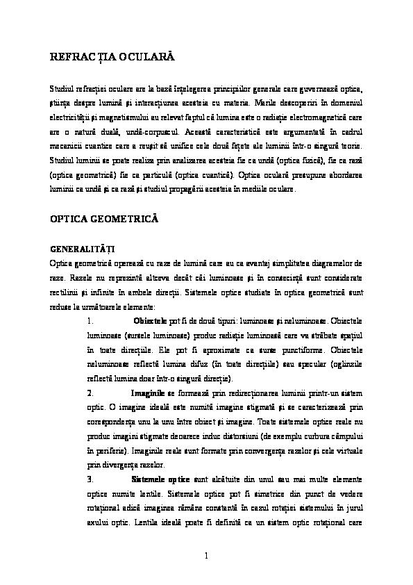 test de acuitate vizuală conform tabelelor