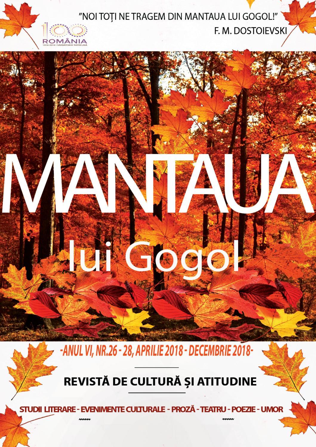 """Recenzie """"Mantaua"""" de N.V. Gogol"""
