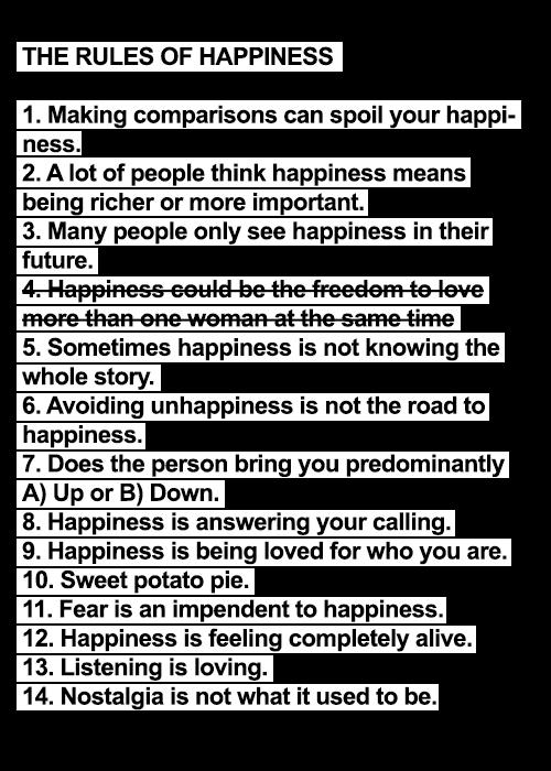 viziunea fericirii)