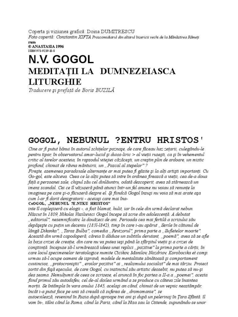 Gogol 18 nouă viziune în