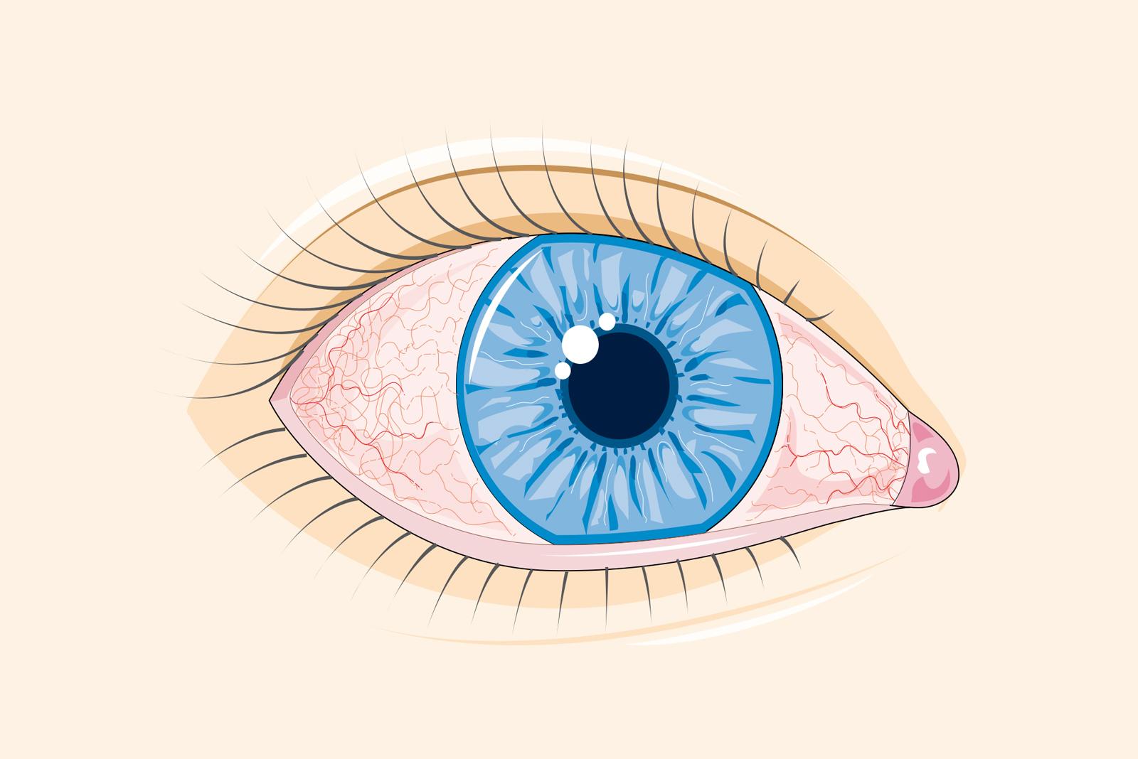 vedere strălucitoare în fața ochilor