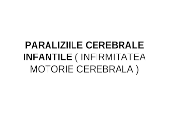 afectarea vizuală cu paralizie cerebrală)