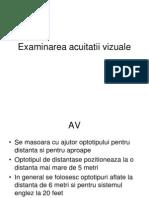 acuitatea vizuală la normal)