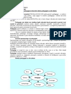 examinarea viziunii pedagogice)