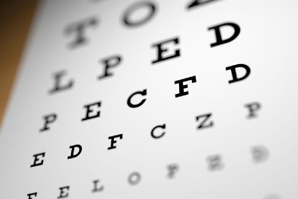 procedura de testare a acuității vizuale)