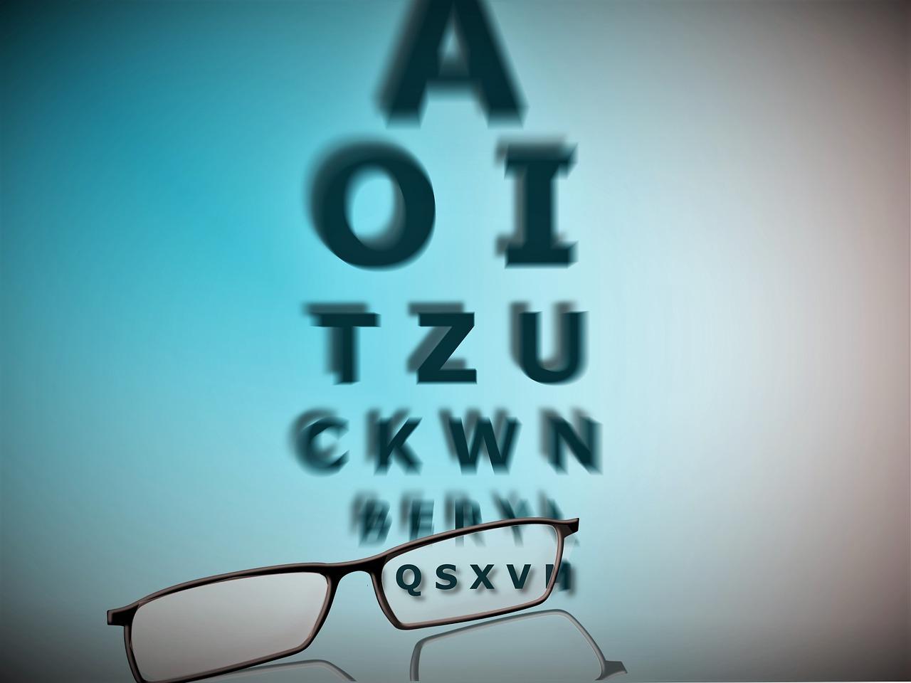 test de vedere miopie sau hipermetropie)