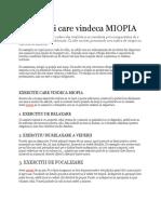 cum să vindeci miopia acasă)