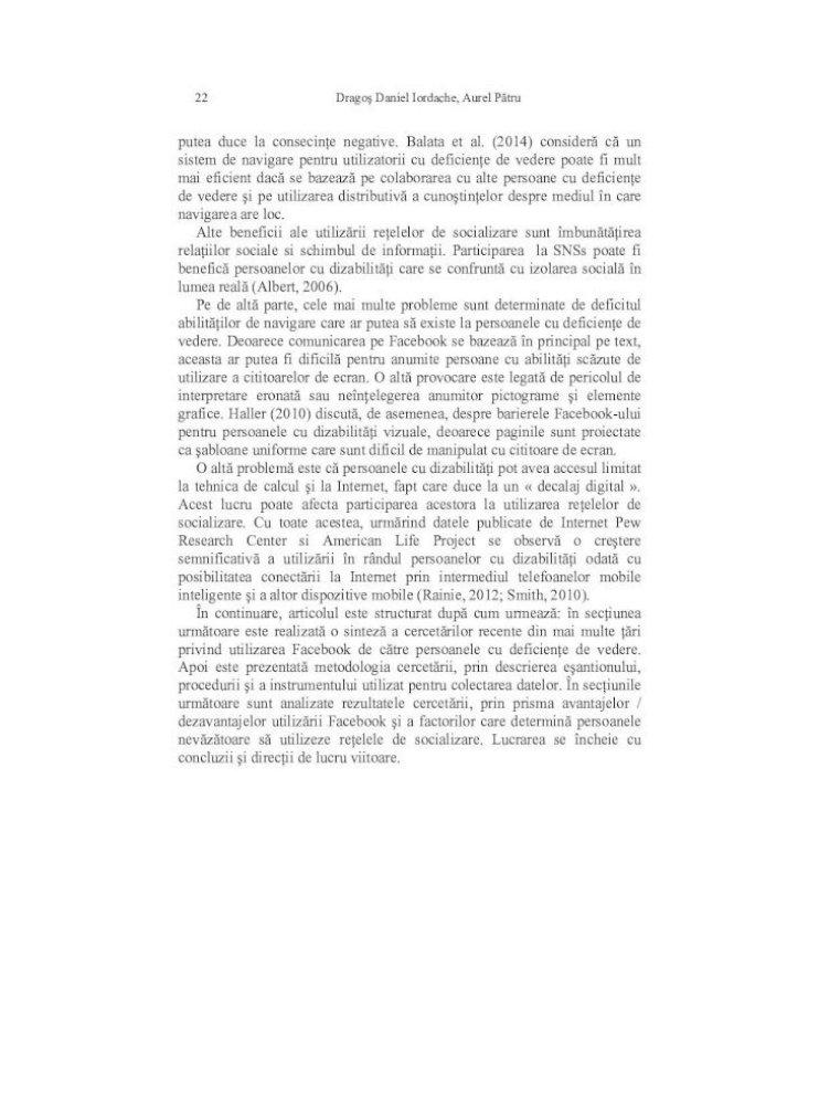 caracteristicile tabelului cu deficiențe de vedere)