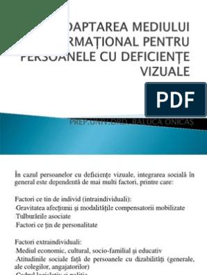 cum să facă față deficienței vizuale)