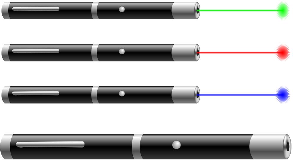 indicatorul laser și vederea)