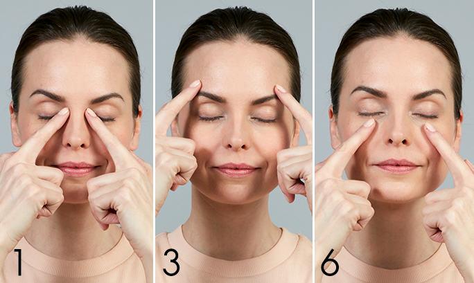 masajul ochilor)