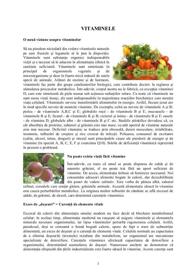 Vitaminele: O nouă viziune asupra vitaminelor